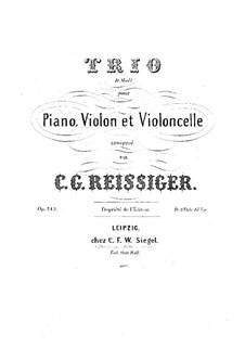 Piano Trio No.23, Op.213: Piano Trio No.23 by Carl Gottlieb Reissiger
