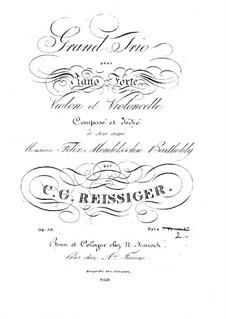 Piano Trio No.2, Op.33: Piano Trio No.2 by Carl Gottlieb Reissiger