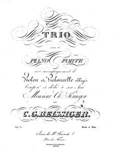 Piano Trio No.5, Op.75: Piano Trio No.5 by Carl Gottlieb Reissiger