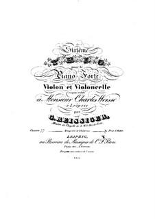 Piano Trio No.6, Op.77: Parts by Carl Gottlieb Reissiger