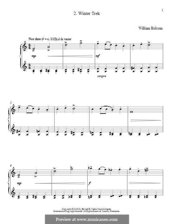 Winter Trek: For piano by William Bolcom