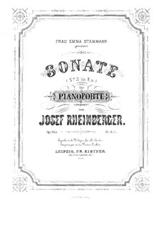 Sonata for Piano No.3, Op.135: Sonata for Piano No.3 by Josef Gabriel Rheinberger