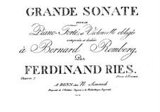 Grand Sonata for Cello and Piano, Op.20: Grand Sonata for Cello and Piano by Ferdinand Ries