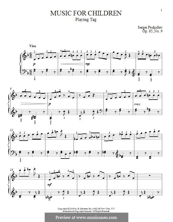 Music for Children, Op.65: No.9 Playing Tag by Sergei Prokofiev