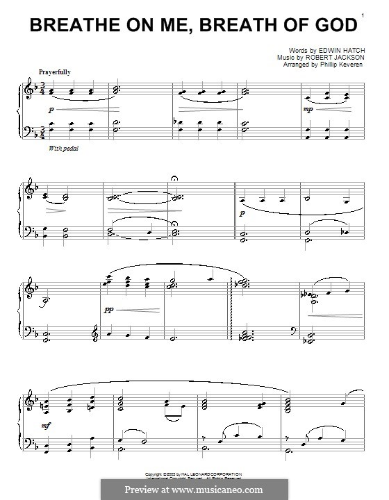 Breathe on Me, Breath of God: For piano by Robert Jackson