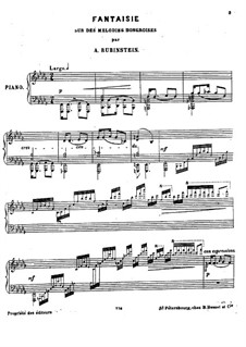Fantasia on Hungarian Melodies: For piano by Anton Rubinstein