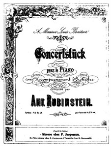 Concert Piece in A Flat Major, Op.113: For two pianos four hands by Anton Rubinstein