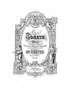 Sonata for Piano No.1 in E Major, Op.12: For a single performer by Anton Rubinstein