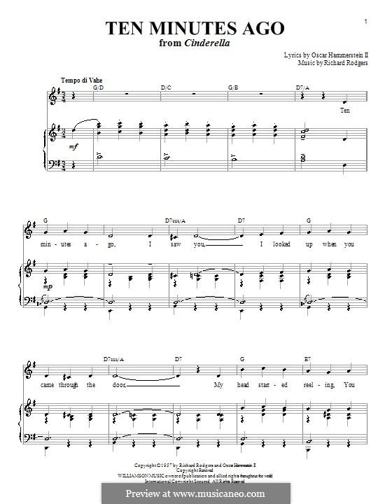 Ten Minutes Ago: For voice and piano or guitar by Richard Rodgers