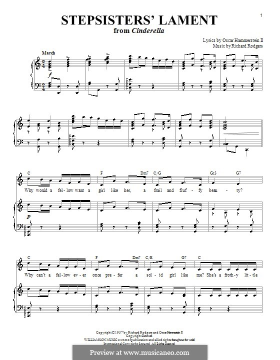 Stepsisters' Lament (from Cinderella): For voice and piano or guitar by Richard Rodgers
