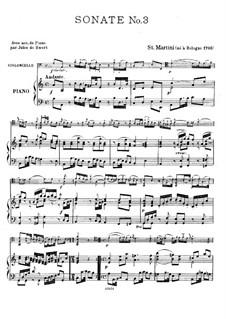 Sonata for Cello and Piano No.3: Sonata for Cello and Piano No.3 by Giovanni Battista Sammartini