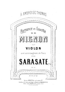 Mignon: Romance and Gavotte, for Violin and Piano by Ambroise Thomas