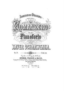 Romanzero. Four Pieces, Op.33: Romanzero. Four Pieces by Xaver Scharwenka