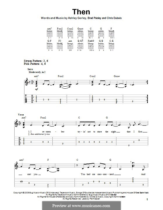Then: For guitar (very easy version) by Ashley Gorley, Chris DuBois