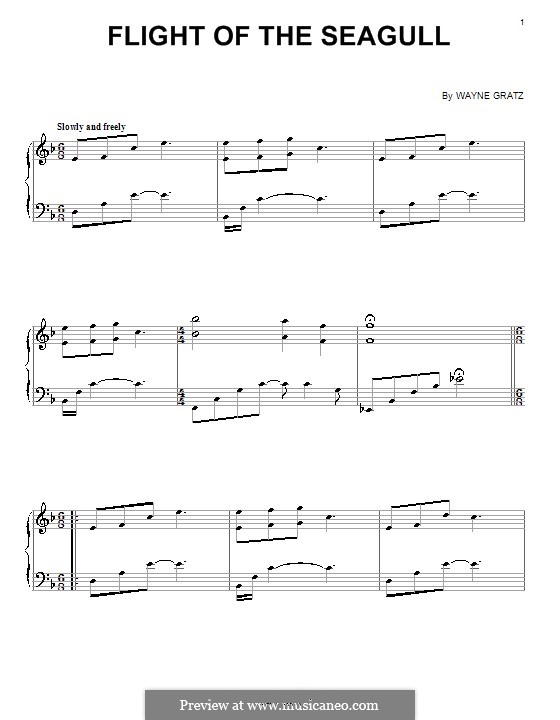 Flight of the Seagull: For piano by Wayne Gratz