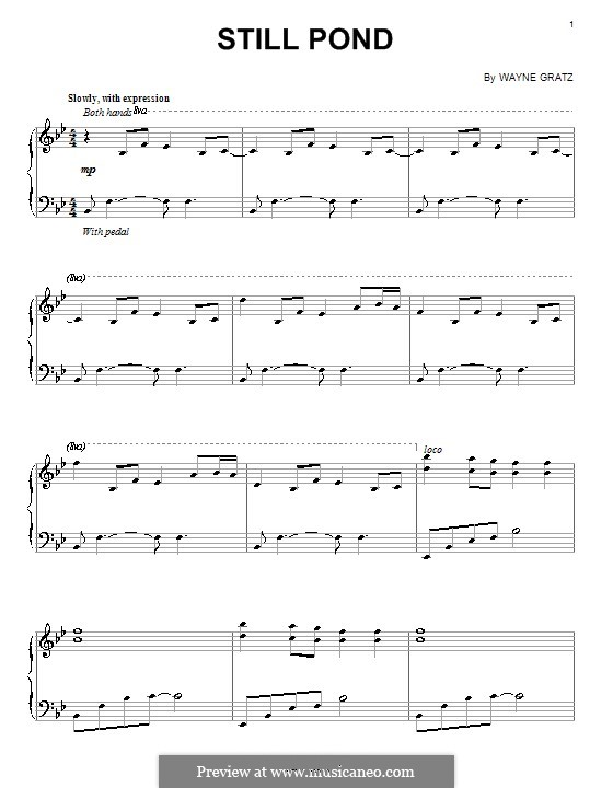 Still Pond: For piano by Wayne Gratz