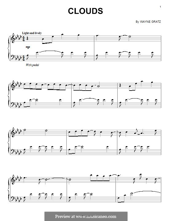 Clouds: For piano by Wayne Gratz
