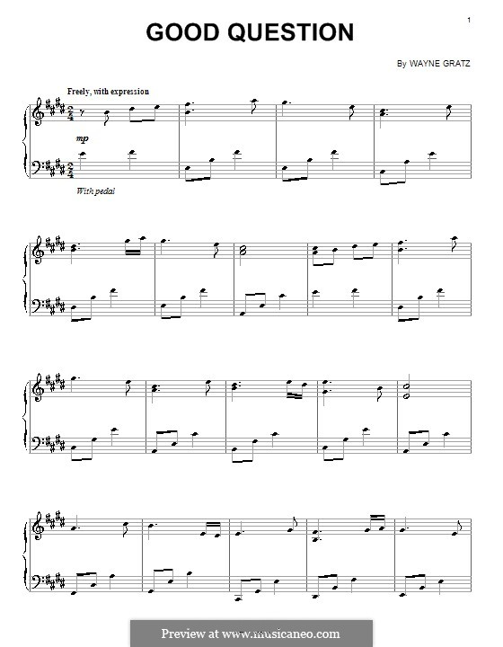 Good Question: For piano by Wayne Gratz