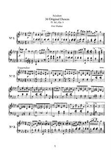 Thirty-Six Original Dances, D.365 Op.9: Complete set by Franz Schubert