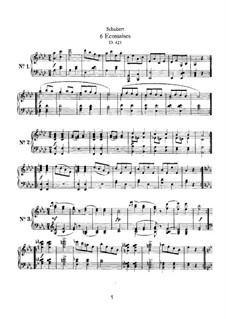 Six Ecossaises, D.421: For a single performer by Franz Schubert