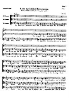 Ein jugendlicher Maienschwung (May's Youthful Impulse), D.61: Ein jugendlicher Maienschwung (May's Youthful Impulse) by Franz Schubert