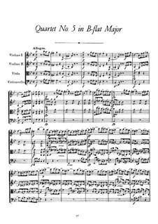 String Quartet No.5 in B Flat Major, D.68: String Quartet No.5 in B Flat Major by Franz Schubert