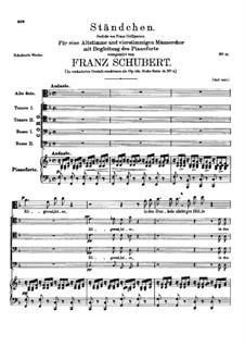 Zögernd, leise (Softly, Hesitantly), D.920: Zögernd, leise (Softly, Hesitantly) by Franz Schubert