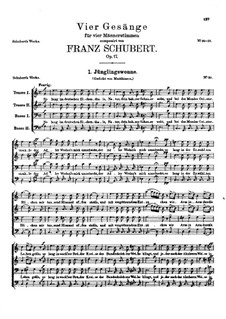 Four Songs for Four Male Voices, D.983 Op.17: Complete set by Franz Schubert