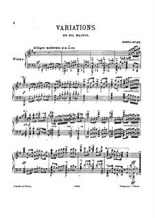 Variations in G Major: Variations in G Major by Adolf Schulz-Evler