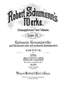 Nachtlied, Op.108: Nachtlied by Robert Schumann