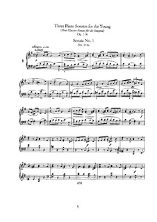 Sonatas for the Young, Op.118: Complete set by Robert Schumann