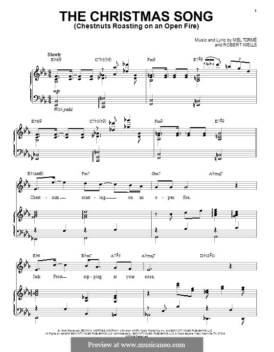 chestnuts roasting on an open fire sheet music - Carnaval.jmsmusic.co