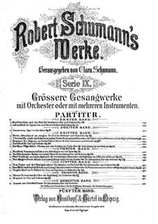 Vom Pagen und der Königstochter, Op.140: Partitur by Robert Schumann