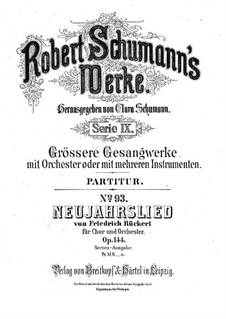 Neujahrslied, Op.144: Partitur by Robert Schumann