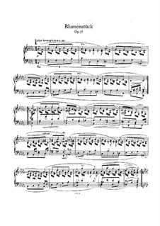 Blumenstück (Flower Piece), Op.19: For piano by Robert Schumann