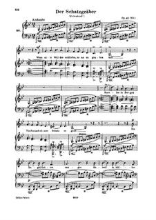 Romances and Ballades, Op.45: Piano-vocal score (German text) by Robert Schumann