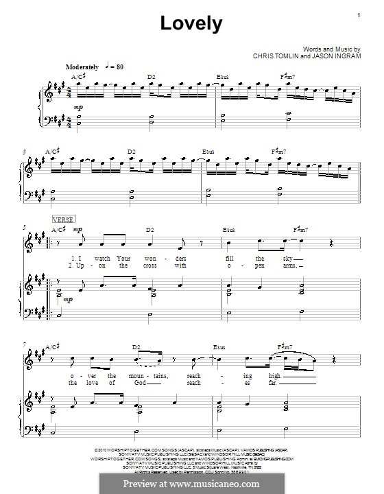 Lovely: For voice and piano (or guitar) by Jason David Ingram