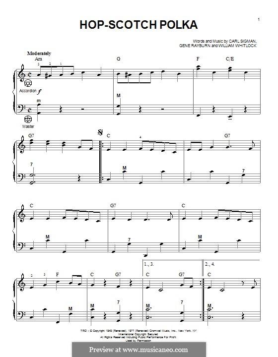 Hop-Scotch Polka: For accordion by Carl Sigman, William Whitlock