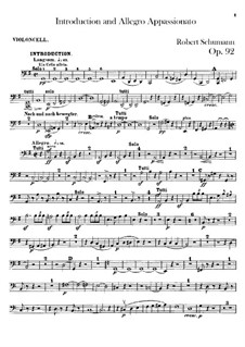 Introduction and Allegro Appassionato, Op.92: Cello part by Robert Schumann