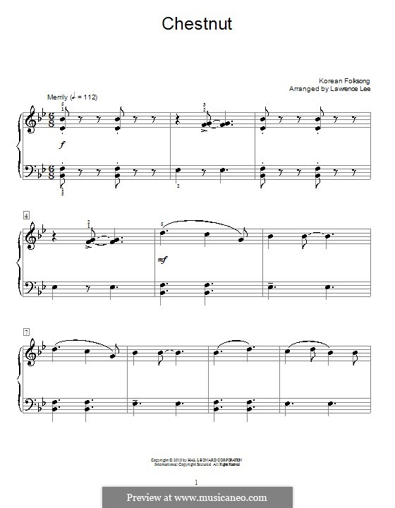 Chestnut: For piano by folklore