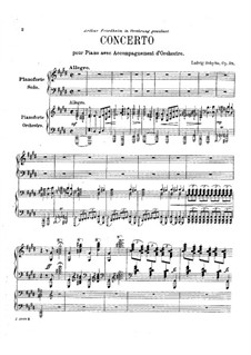 Piano Concerto, Op.28: Arrangement for two pianos by Ludvig Schytte