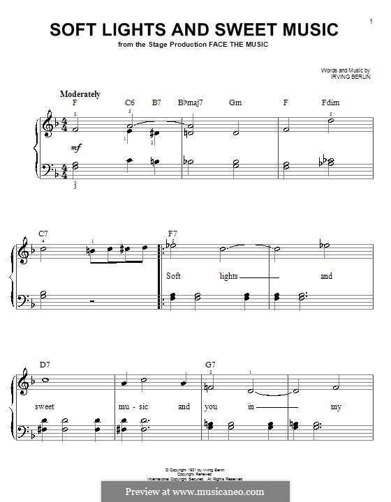 Soft Lights and Sweet Music: For easy piano by Irving Berlin