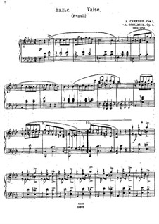Waltz in F Minor, Op.1: For piano by Alexander Scriabin