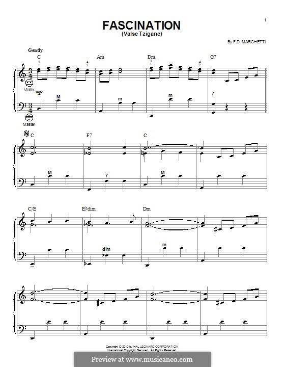 Fascination: For accordion by Fermo Dante Marchetti