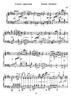 Sonata-Fantasia for Piano: Sonata-Fantasia for Piano by Alexander Scriabin