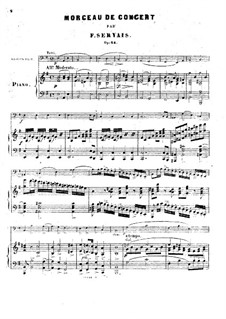 Concert Piece for Cello and Piano, Op.14: Concert Piece for Cello and Piano by Adrien-François Servais