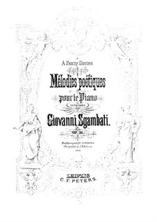 Poetic Melodies, Op.36: Poetic Melodies by Giovanni Sgambati