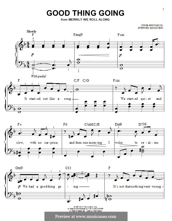 Good Thing Going: For easy piano by Stephen Sondheim