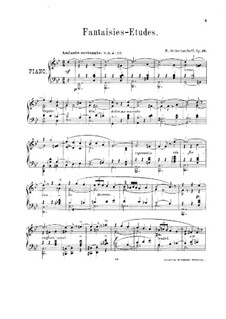 Fantasias-Etudes, Op.26: Fantasias-Etudes by Nikolai Shcherbachov