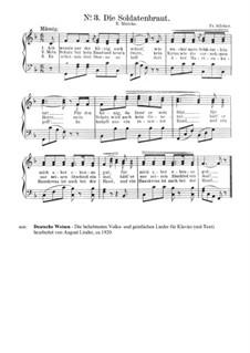 Die Soldatenbraut: Piano-vocal score by Friedrich Silcher